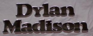 clear mirrored name sign
